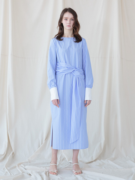 [Coett] Stripe Marine Dress
