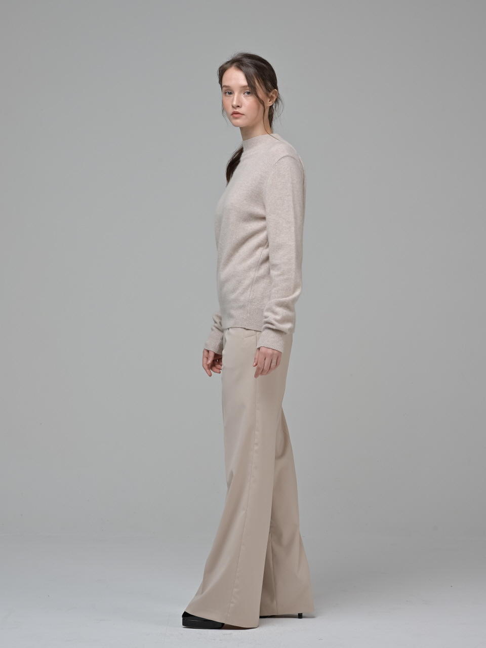 [Coett] Side Button Pants_BEIGE