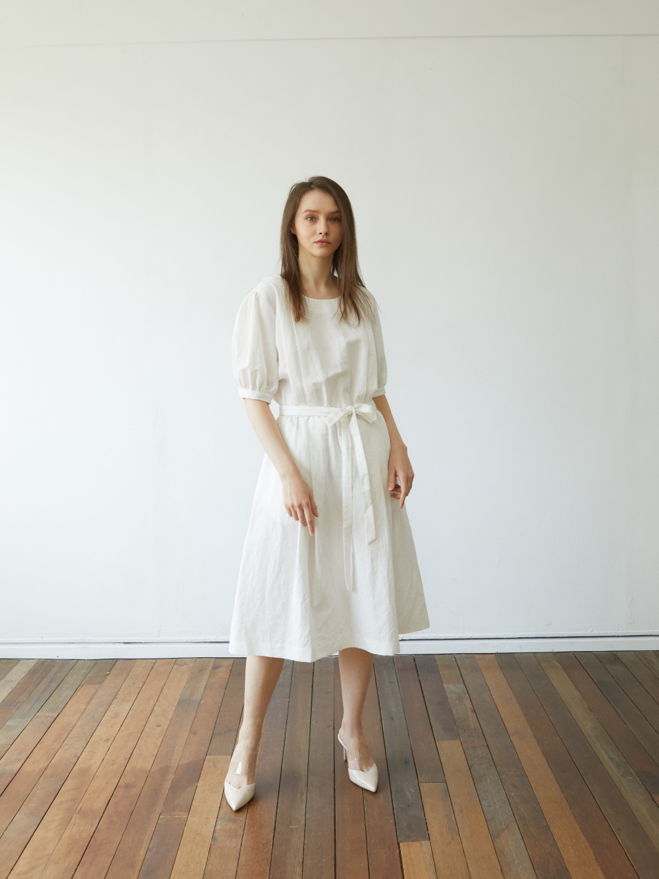[Coett] White Linen Dress